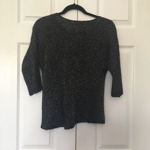 Jennifer Lopez sweater XS black with gold metillac